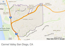 Carmel Valley map