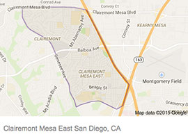 Clairemont Mesa map