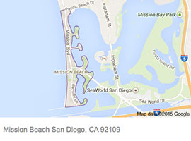Mission Beach map