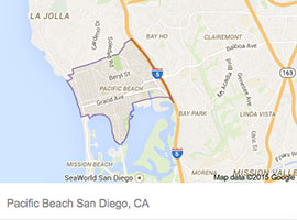 Pacific Beach map