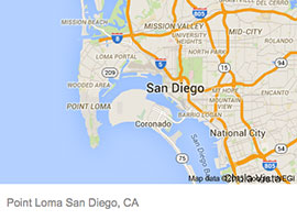 Point Loma Map Point Loma   ELECTRICIAN SAN DIEGO Point Loma Map