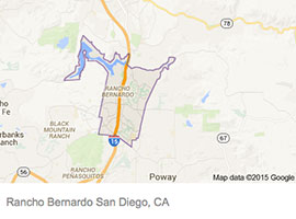 Rancho Bernardo map